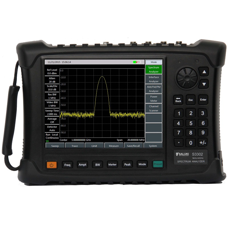 SalukiTech S3302 Handheld Spectrum Analyzer