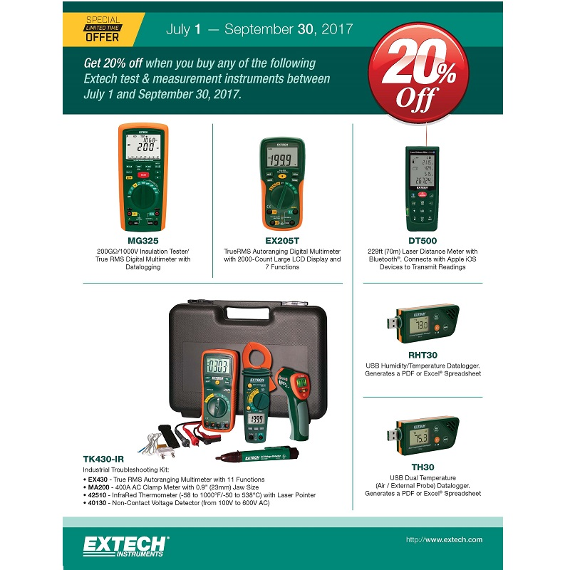 Extech 20% Limited time Offer