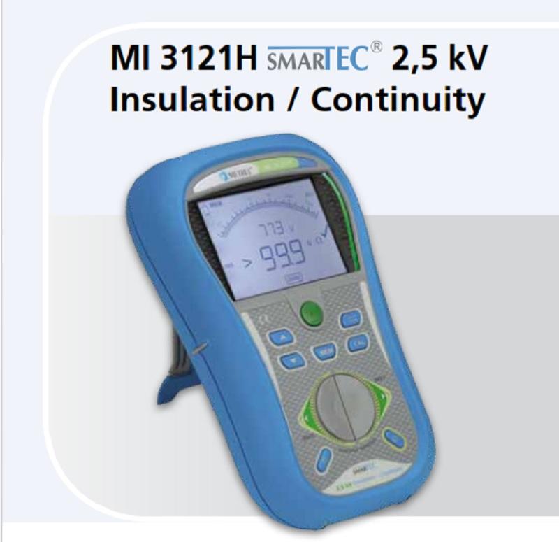 Metrel MI 3121H SMARTEC 2,5 KV INSULATION / CONTINUITY