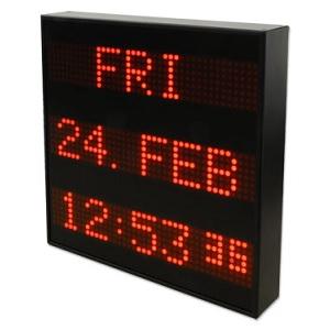Meinberg DU35K: LED голям дисплей DU35K (три реда, ден от седмицата, дата и час)