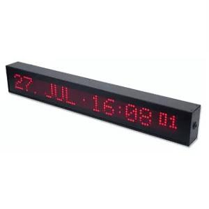 Meinberg DU70: LED голям дисплей, едноредов, показващ дата / час със секунди