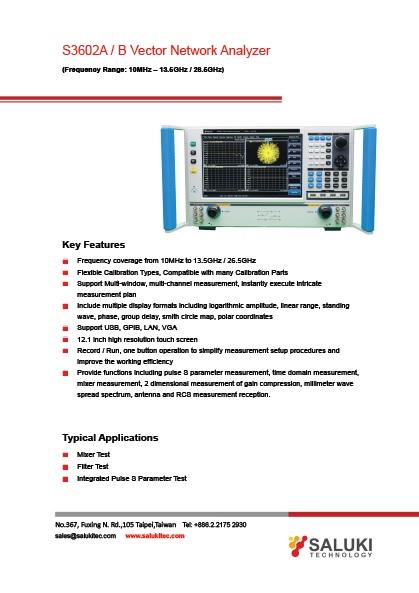 Vector Network Analyzer S Parameter : Salukitech s a b vector network analyzer